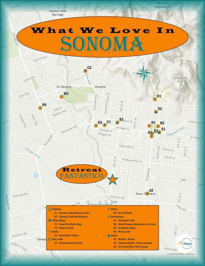Biz maps Retreat Sonoma