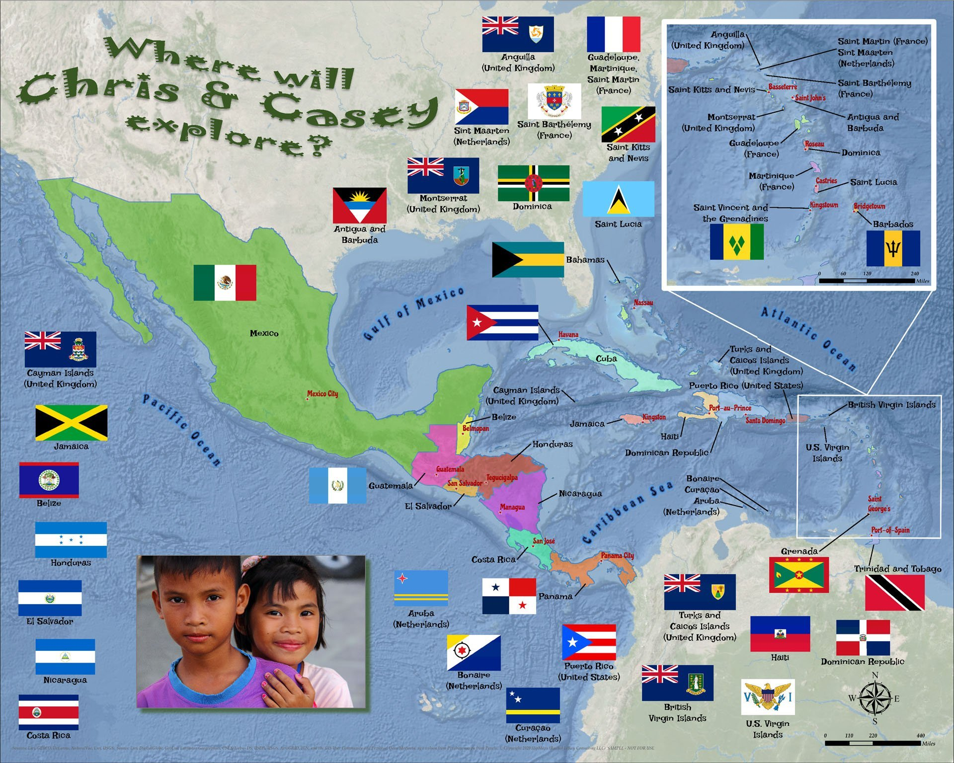 Caribbean Central America puzzle 1