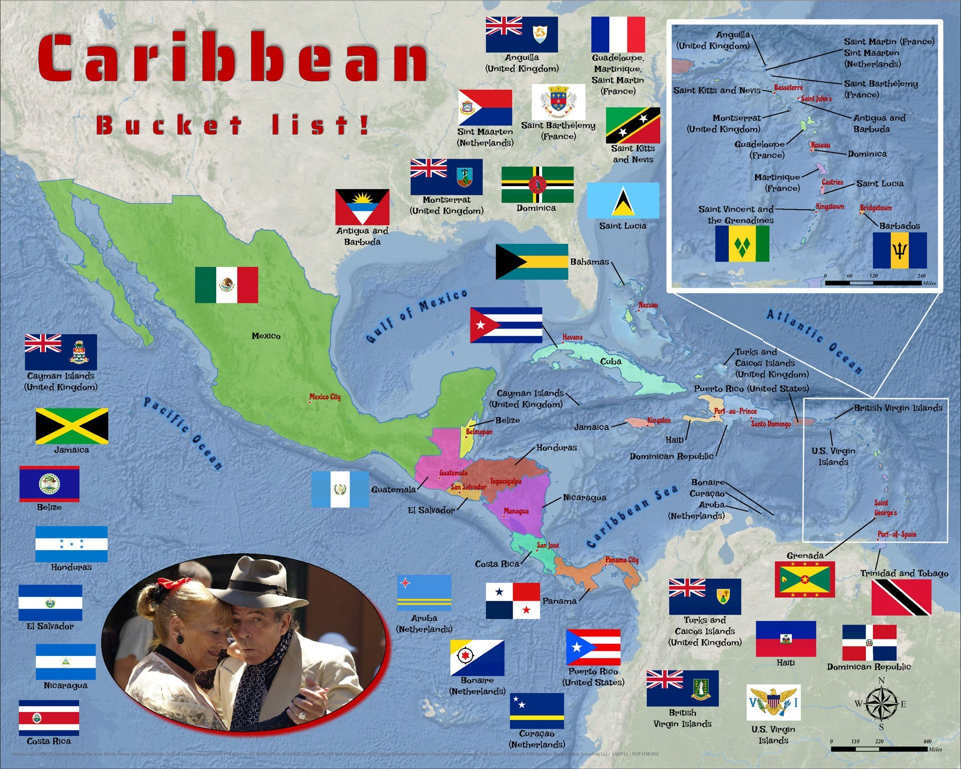Caribbean Central America puzzle adult
