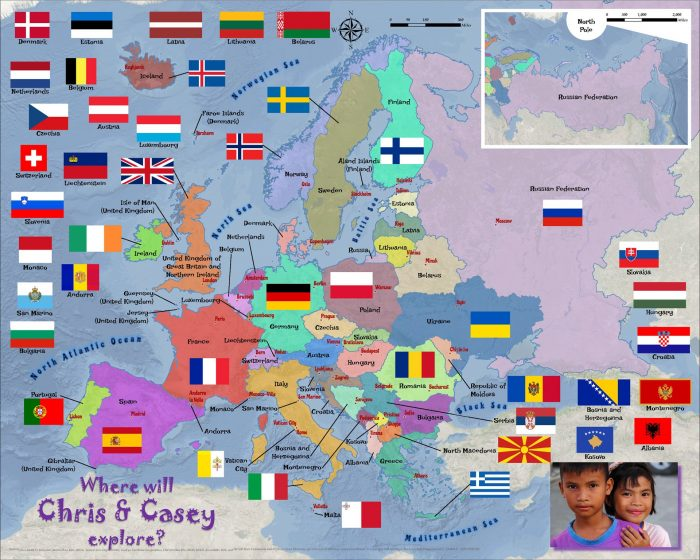 Europe countries flags 1