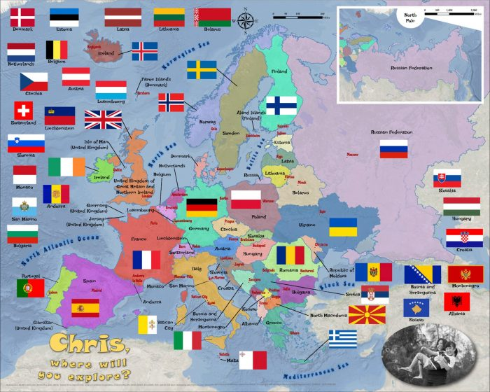 Europe countries flags 3