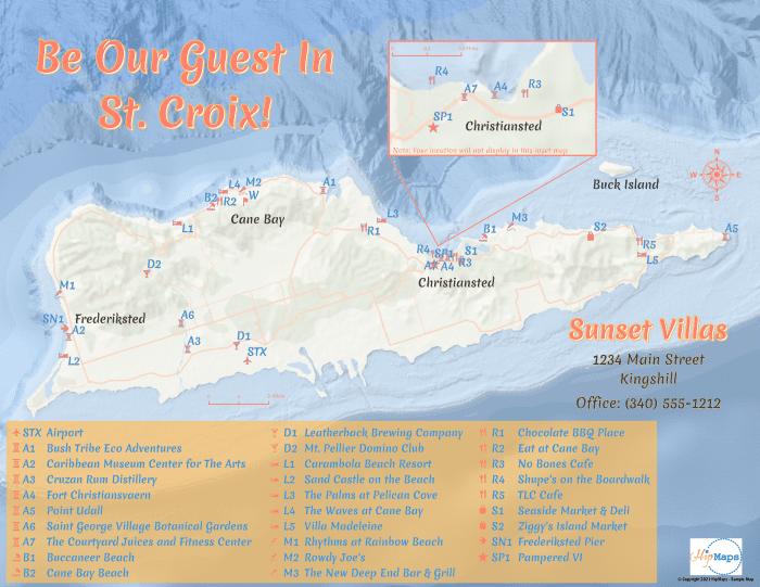 Custom vacation rental home map
