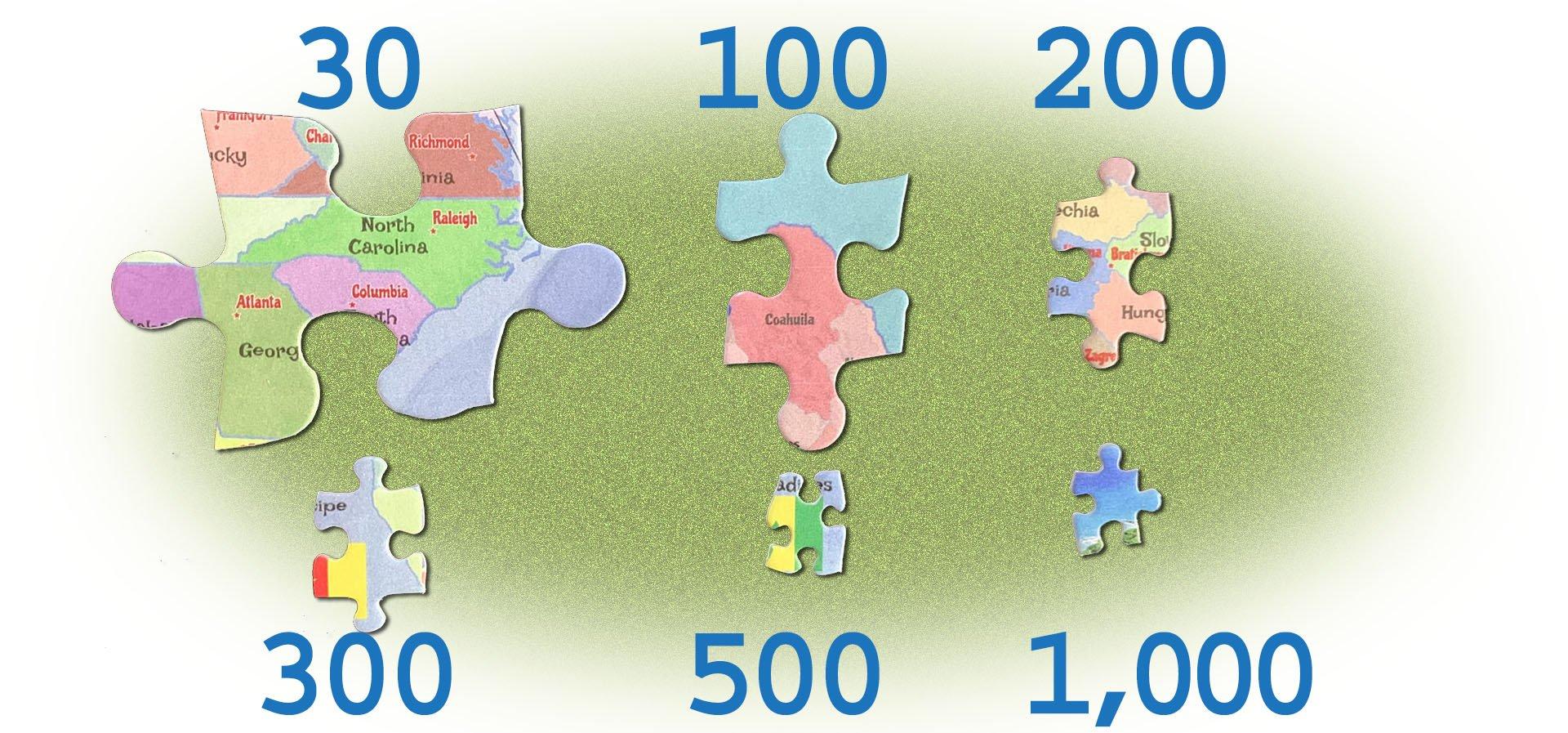 Puzzle Piece Sizes