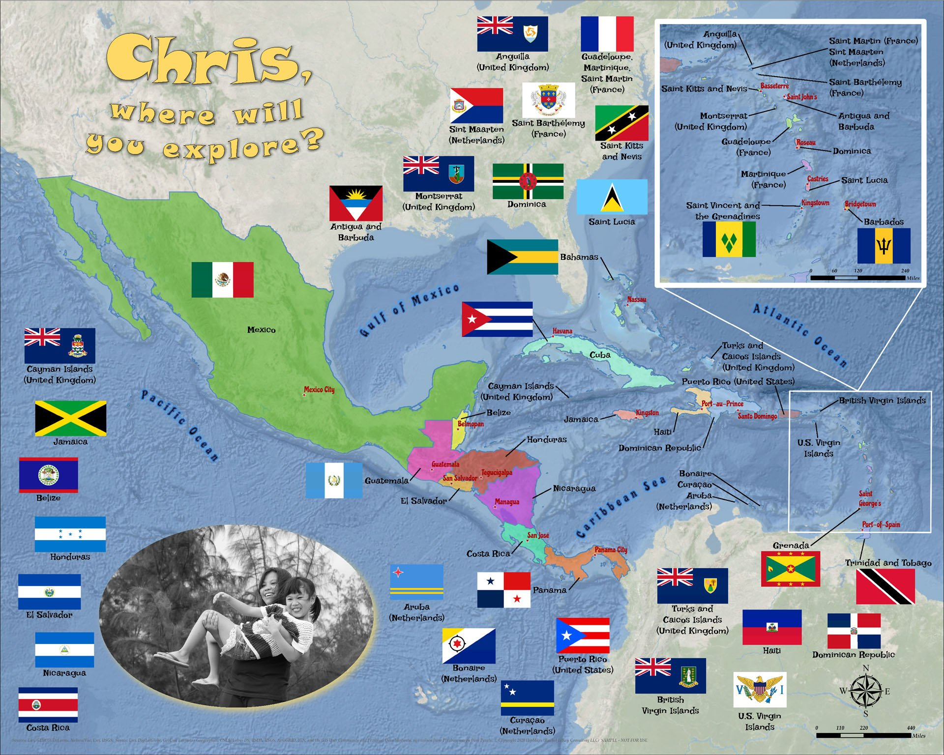 Puzzle Learn Caribbean Central America