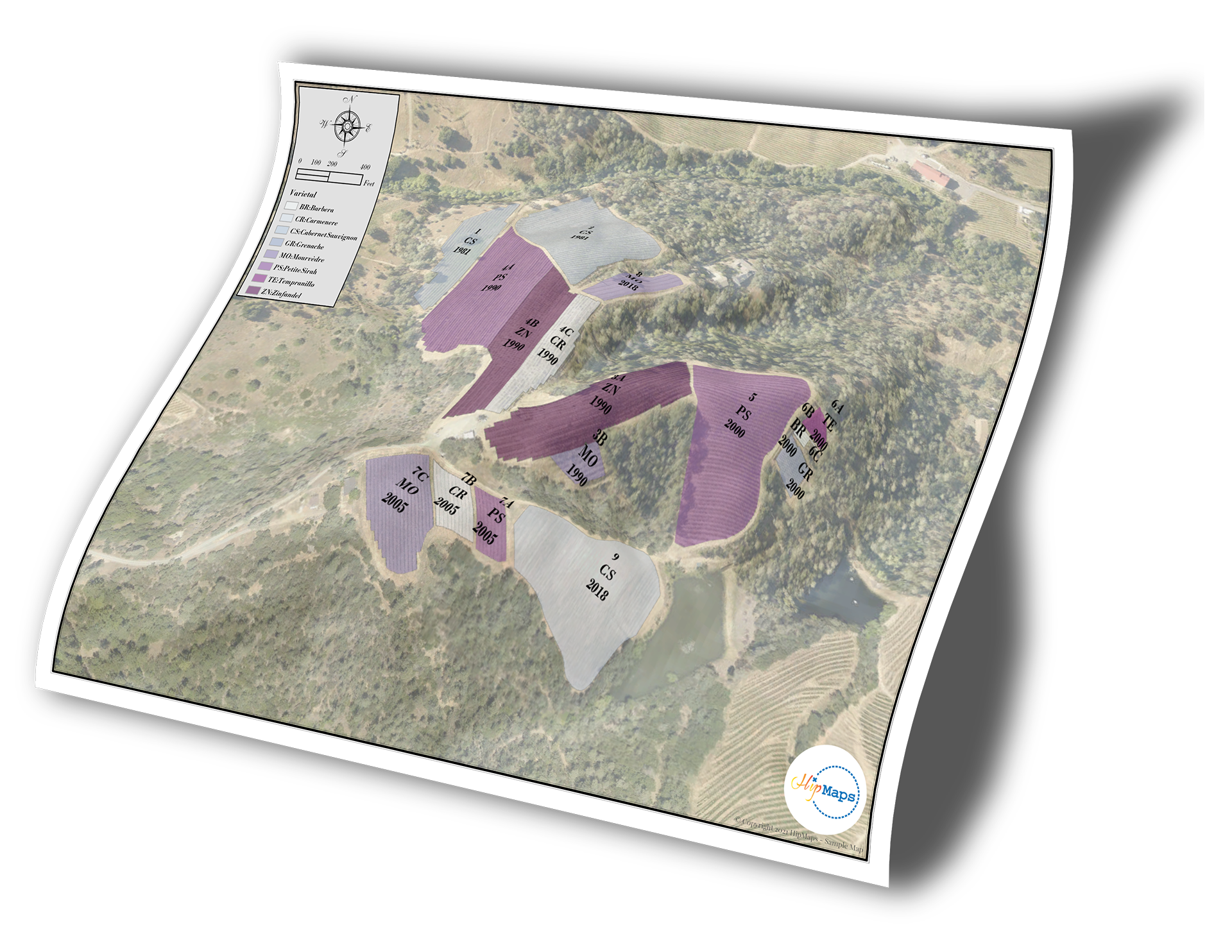 Winery-Vineyard AVA 3D map