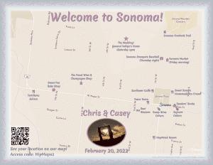 Wedding sample map