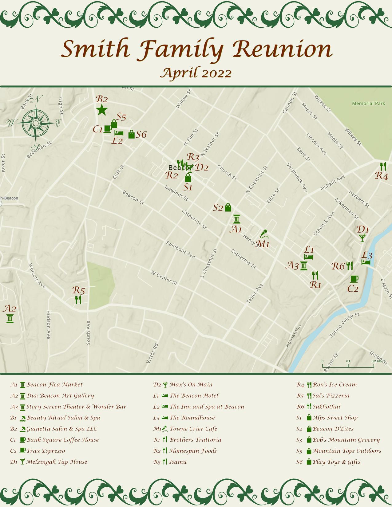 Reunion Sample Map