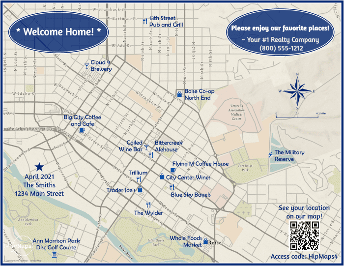 Welcome to Boise sample map